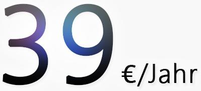 Nur 39 Euro pro Jahr